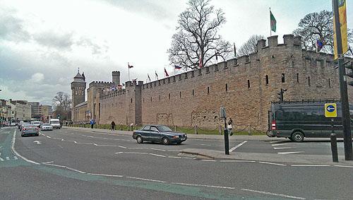 Cardiff Castle is gebouwd op de  fundamenten van een heus Romeins fort.