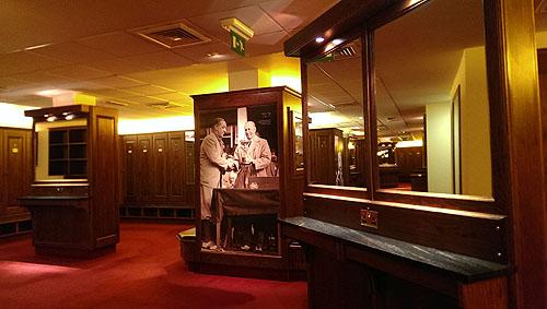 De kleedkamer van de Twenty Ten Course, een waar Ryder Cup museum...