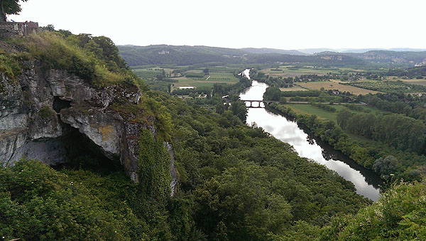 Het landschap van Vallée de la Dordogne is heerlijk gevarieerd....