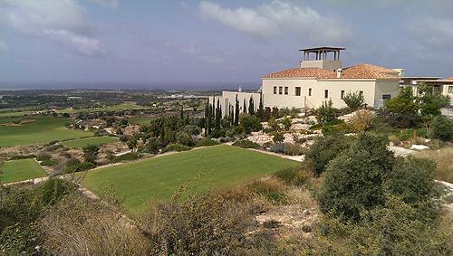 Vanuit het clubhuis van Aléa Golf Club heb je een prachtig uitzicht