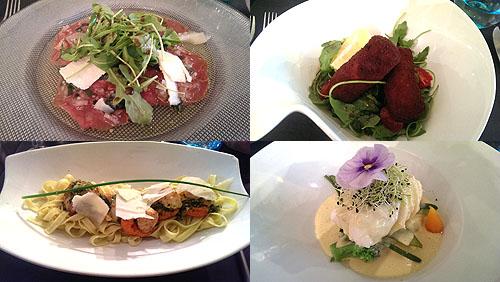 In de vele restaurantjes rond de haven kan je uiteraard uitstekend eten!