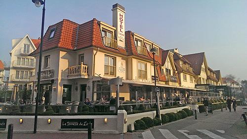Hotel Lugano ligt in het centrum van Knokke