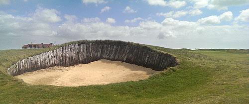 De beroemde Sarazen Bunker op Prince's Golf Club