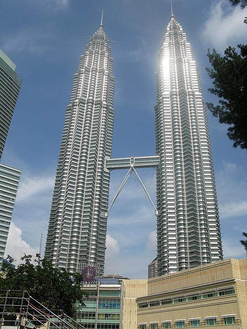 De wereldberoemde Petronas Towers zijn in veel films terug te zien